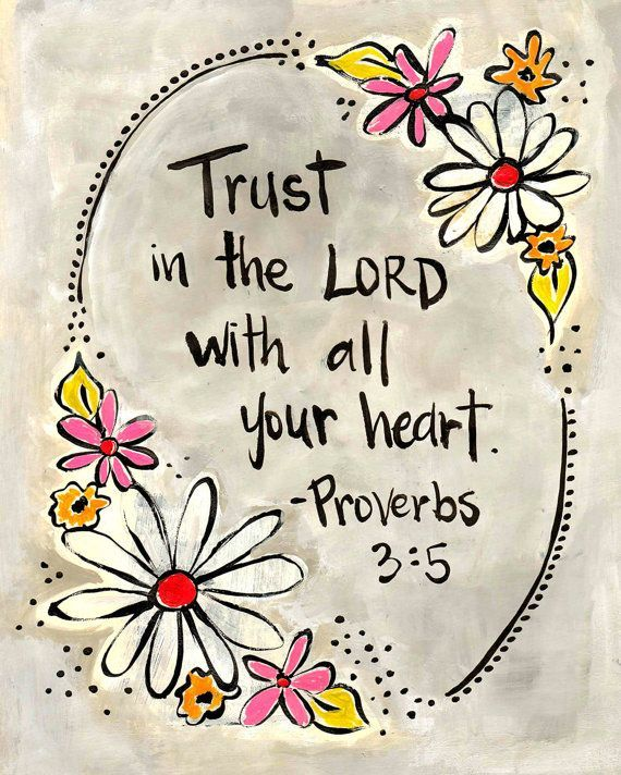 Trust In the Lord with All Your Heart: Proverbs 3:5 Inspirational Bible Verse Notebook/Journal (110 Lined Pages 8.5 x 11)