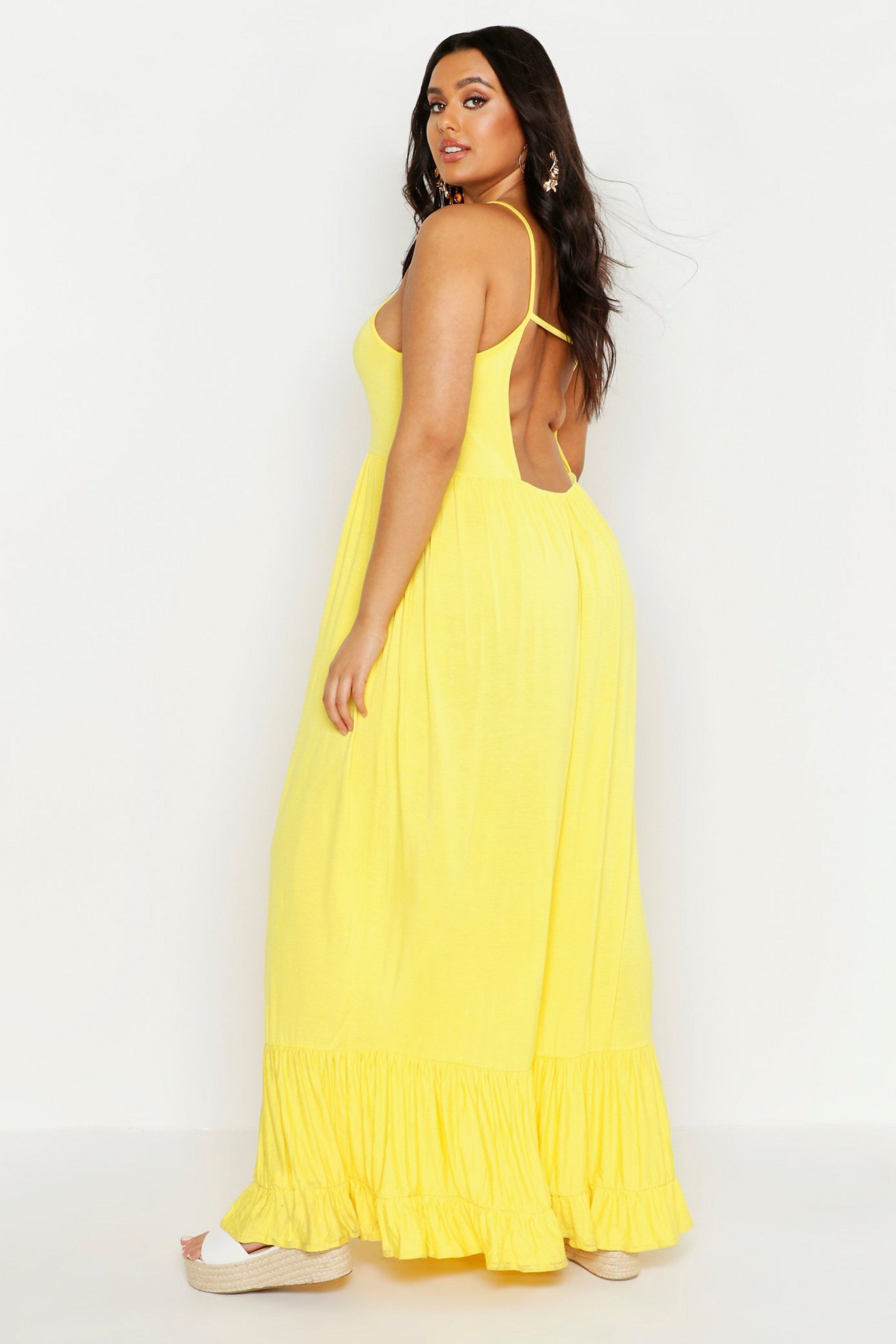 Plus Tiered Strappy Maxi Dress Boohoo Strappy Maxi Dress Kids Maxi Dresses Yellow Maxi Dress [ 3271 x 2181 Pixel ]