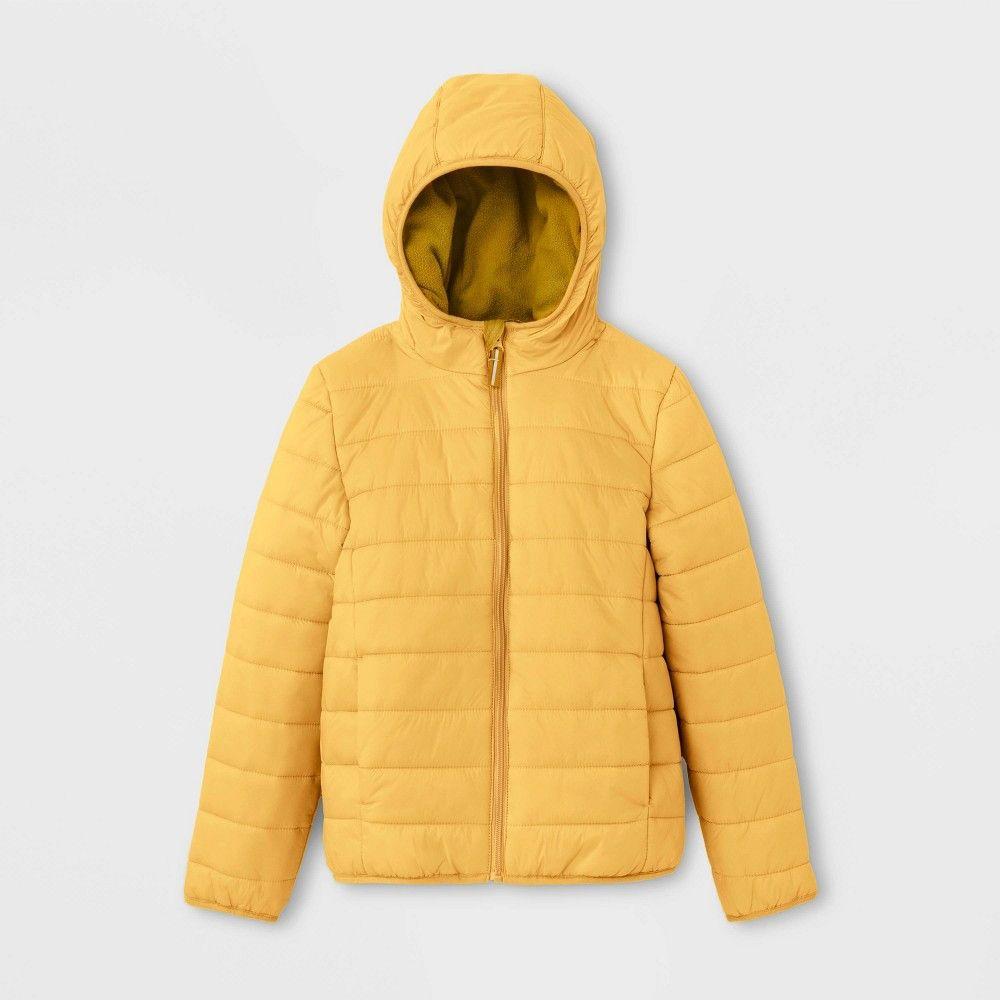 Kids Lightweight Puffer Jacket Cat Jack Yellow L Kids Unisex Size Large Girls Puffer Jacket Faux Fur Hooded Jacket Summer Outfits Kids [ 1000 x 1000 Pixel ]