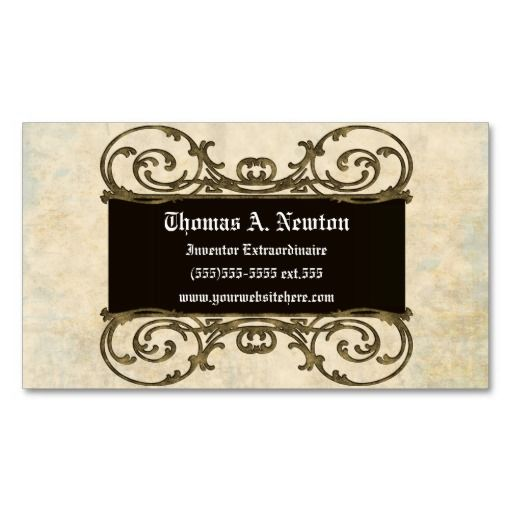 Ornate Plaque Vintage Goth Steampunk Business Card Goth For
