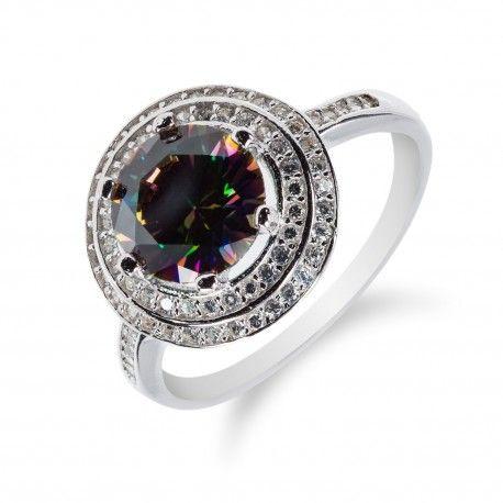 78627a609 Stříbrný prsten s mystickým topazem a zirkony | Prsteny | Rolex ...