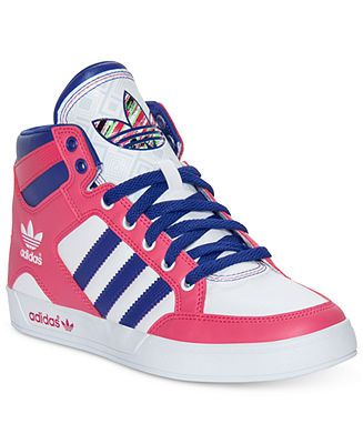 adidas Women\u0027s Shoes, Hardcourt Hi Casual Sneakers - Sneakers - Shoes -  Macy\u0027s