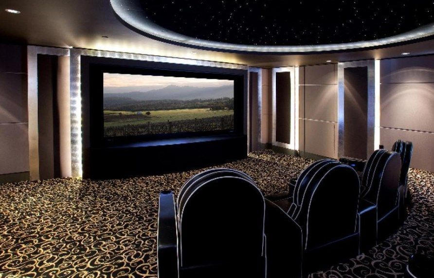 cool diy entertainment center ideas plans your unlimited homemade rh pinterest com Basement Theater Room Layout Finished Basement Home Theater