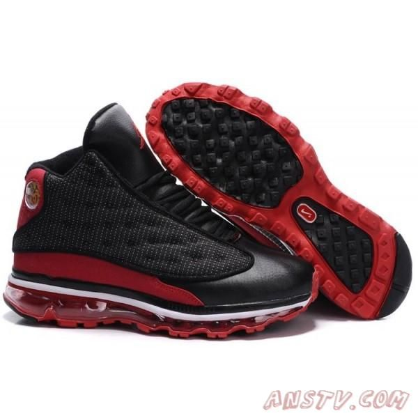 new product 754a9 433fa Air Jordan Homme Nike Air Jordan 13 Air Max Fusion All Noir Rouge