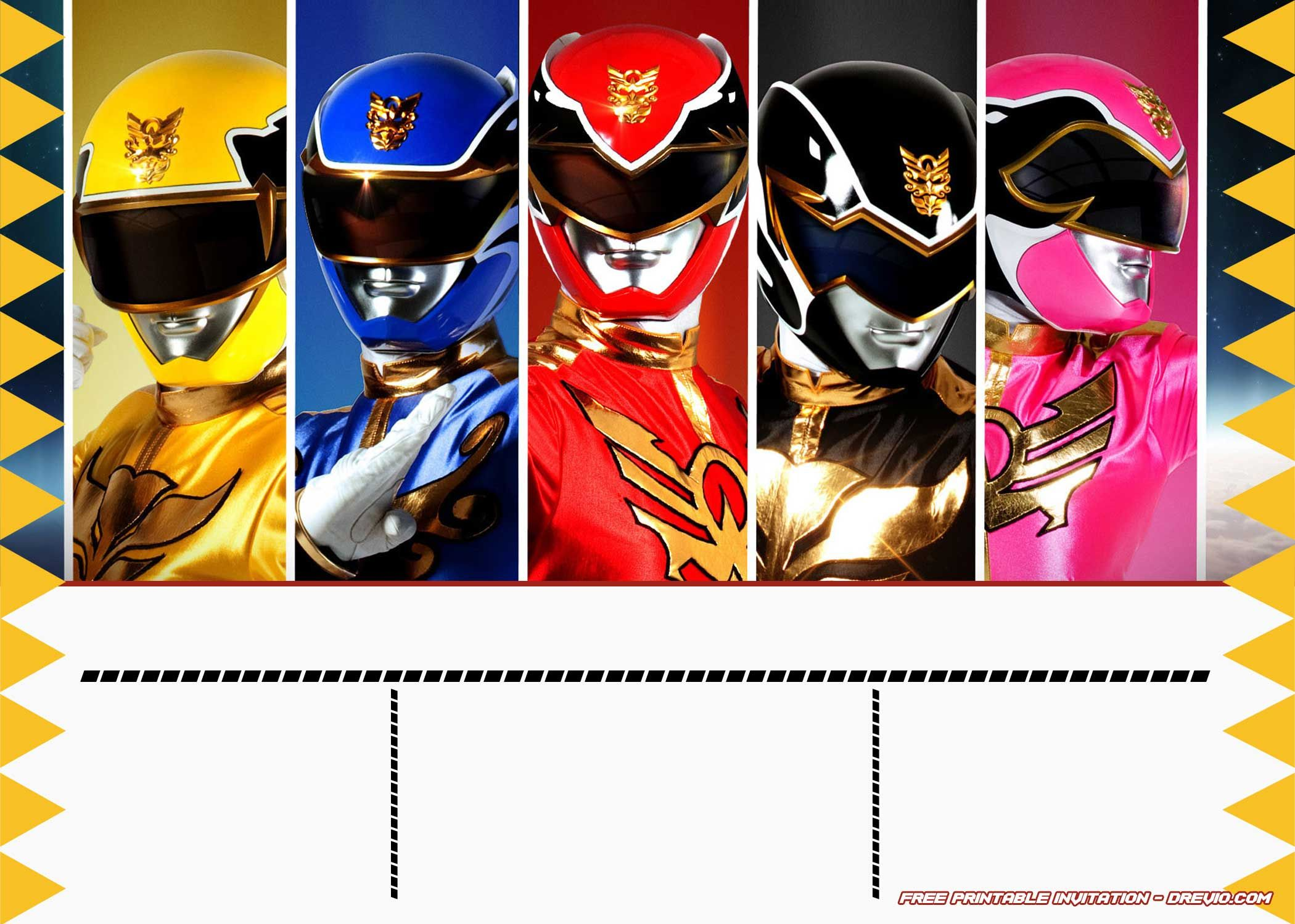 FREE Power Rangers Birthday Invitation Templates  Power ranger