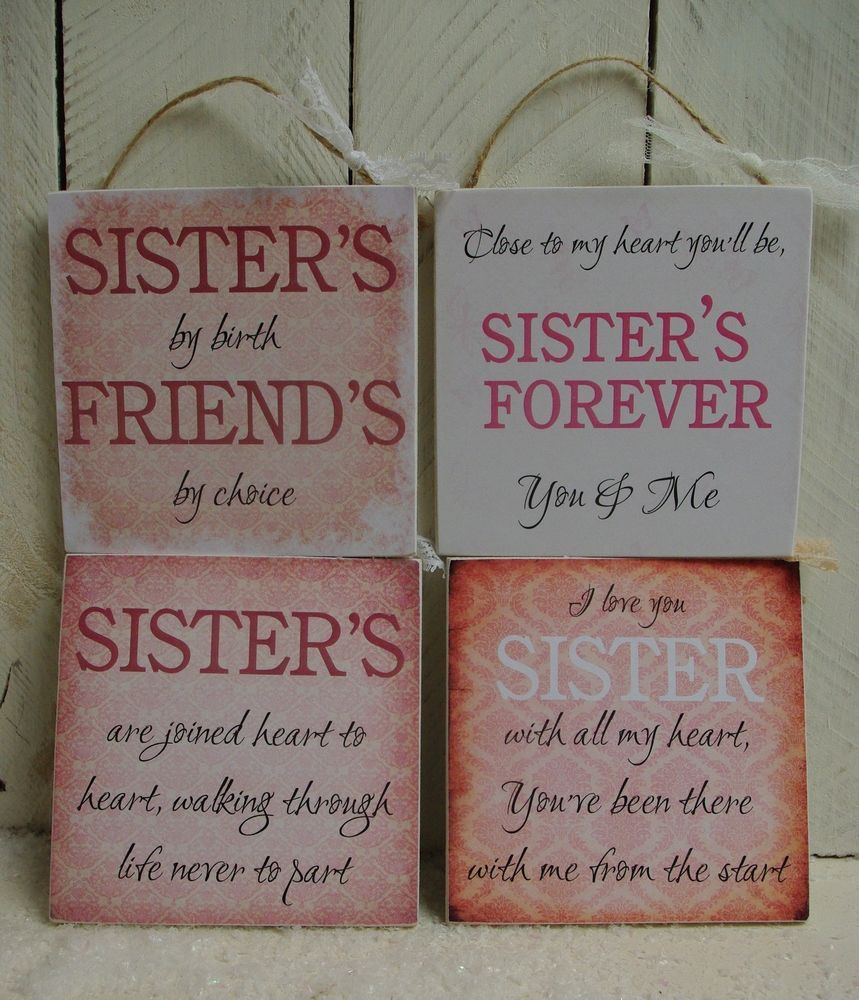Friend Quote Plaque : Details about handmade plaque sign gift present sister