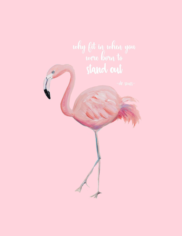 Craftberry bush free flamingo art printable httpwww