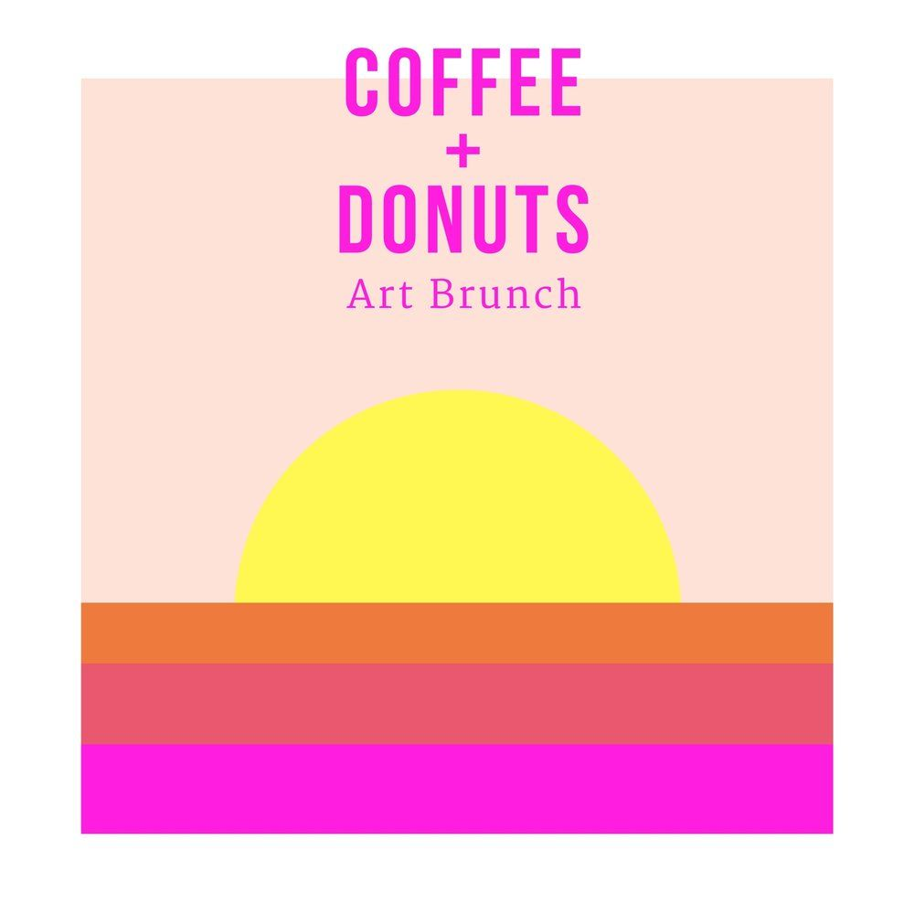 Coffee Donuts Art Brunch Los Angeles Paint And Sip With