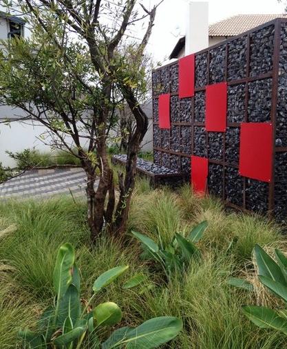 Épinglé par Breanna Elise sur || jardin || | Mur en gabion ...