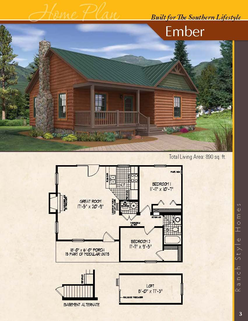 The Ember 2 Bedrooms 1 Bath Visit Www Modukraf Com For More Information On Building Your New Home With Modukra House Plans Cottage Plan Small Rustic House