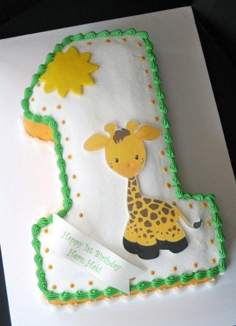 Giraffe Birthday Cake Birthday Cakes Cute Cakescupcakes