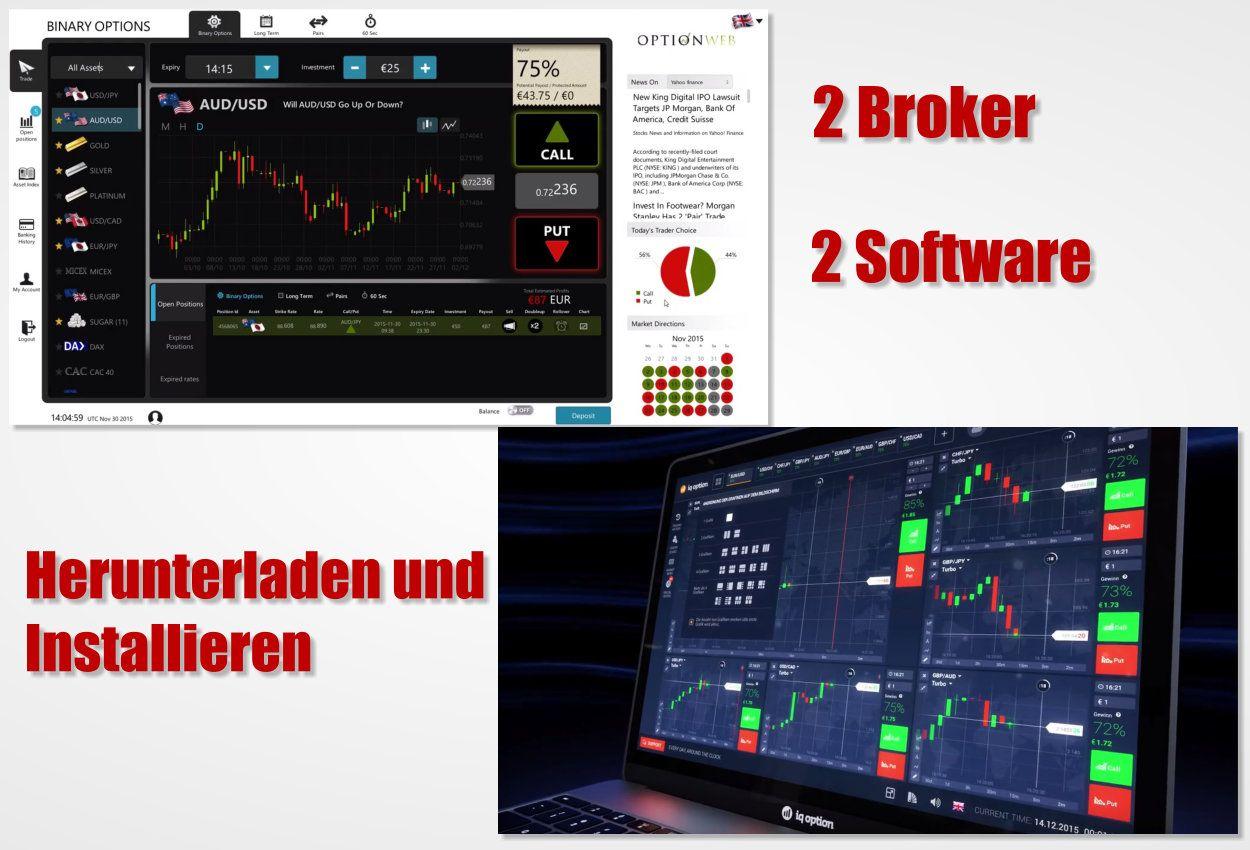 2 Broker mit eigener Handelssoftware zum installieren #broker #handelssoftware #installieren #binaereoptionen