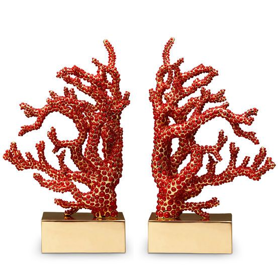 Shop for the coral bookends by lobjet online at artedona enjoy our personal service luxury brands worldwide delivery and secure online ordering