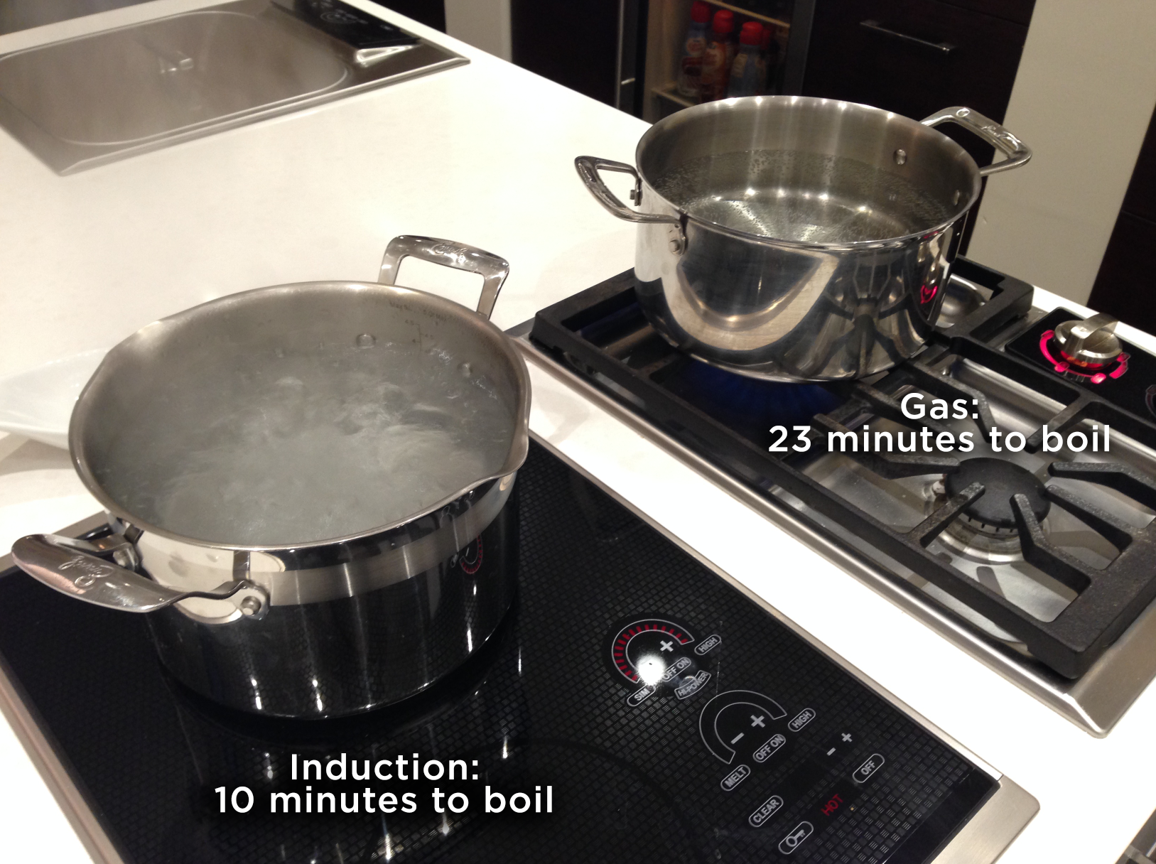 There Are Several Other Reasons We Love Induction The Cooktop Is Flat So Serves As Additional Counter Space It Cooks Fa Gas Cooktop Cooktop Induction Cooktop