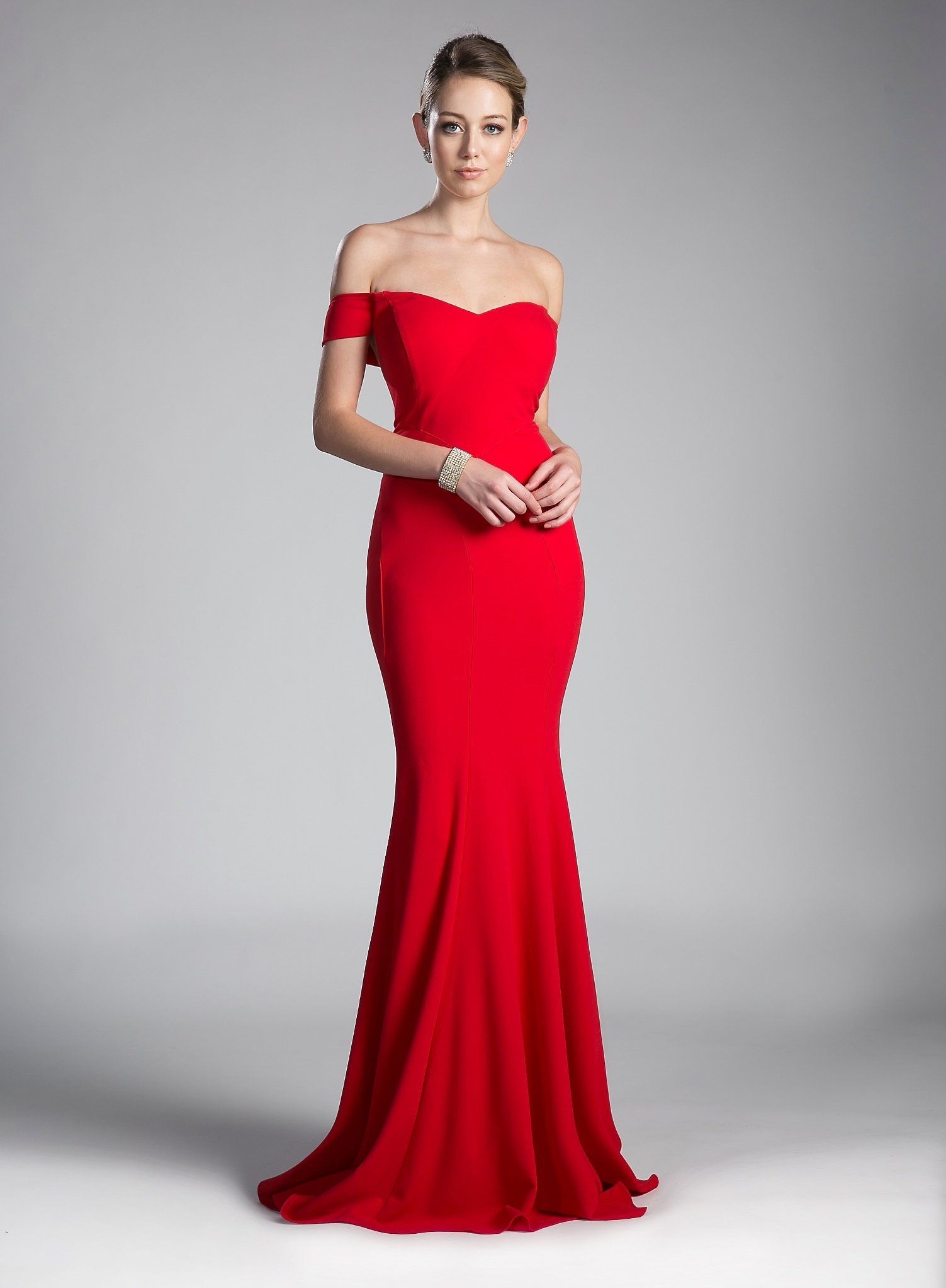 a61bf927d29 Long Off the Shoulder Mermaid Dress by Cinderella Divine CD711 in ...