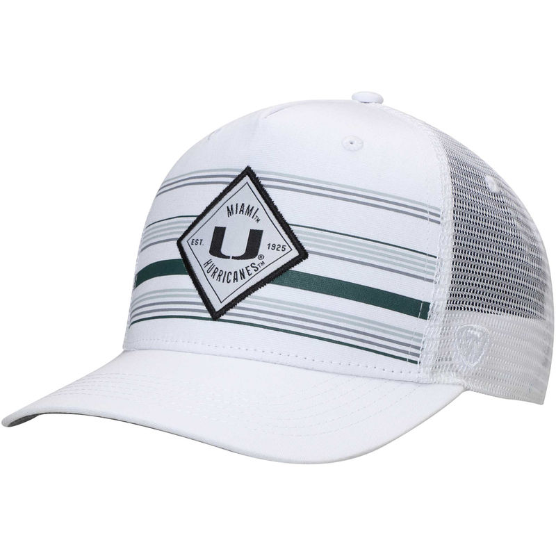 best website b7ce8 736ca Miami Hurricanes Top of the World 36th Ave Trucker Adjustable Hat – White