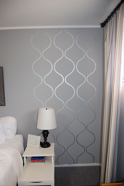 Not this particular stencil but i like the glossy stencil - Matte finish paint for walls ...