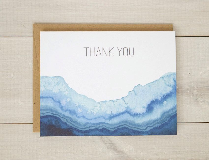 Geode Thank You Cards Agate Thank You Card Set Watercolor Cards