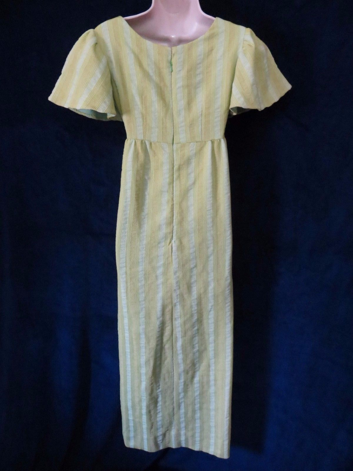 Us us vintage dijon lime striped tapestry bell sleeve hippie