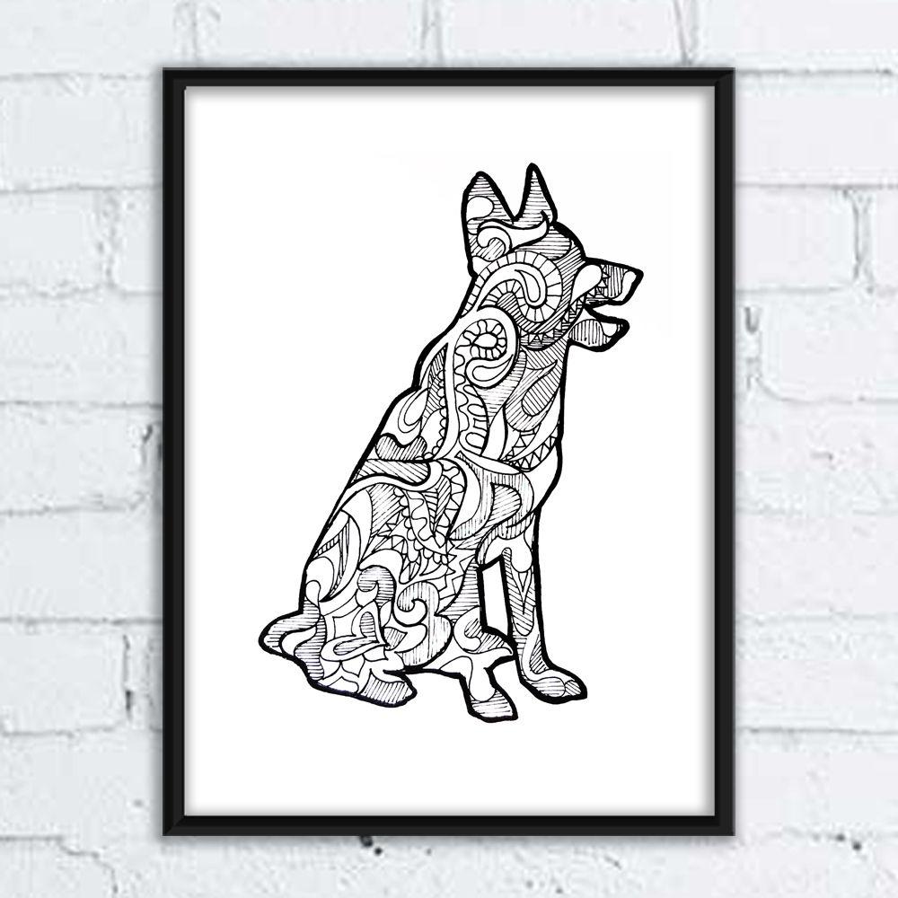 Grafiki Martyna Szulist Architekt Wnetrz Moose Art Art Animals