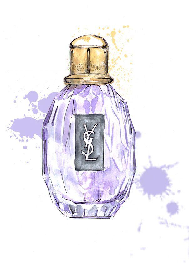 ysl parisienne perfume illustration bachelorette pad