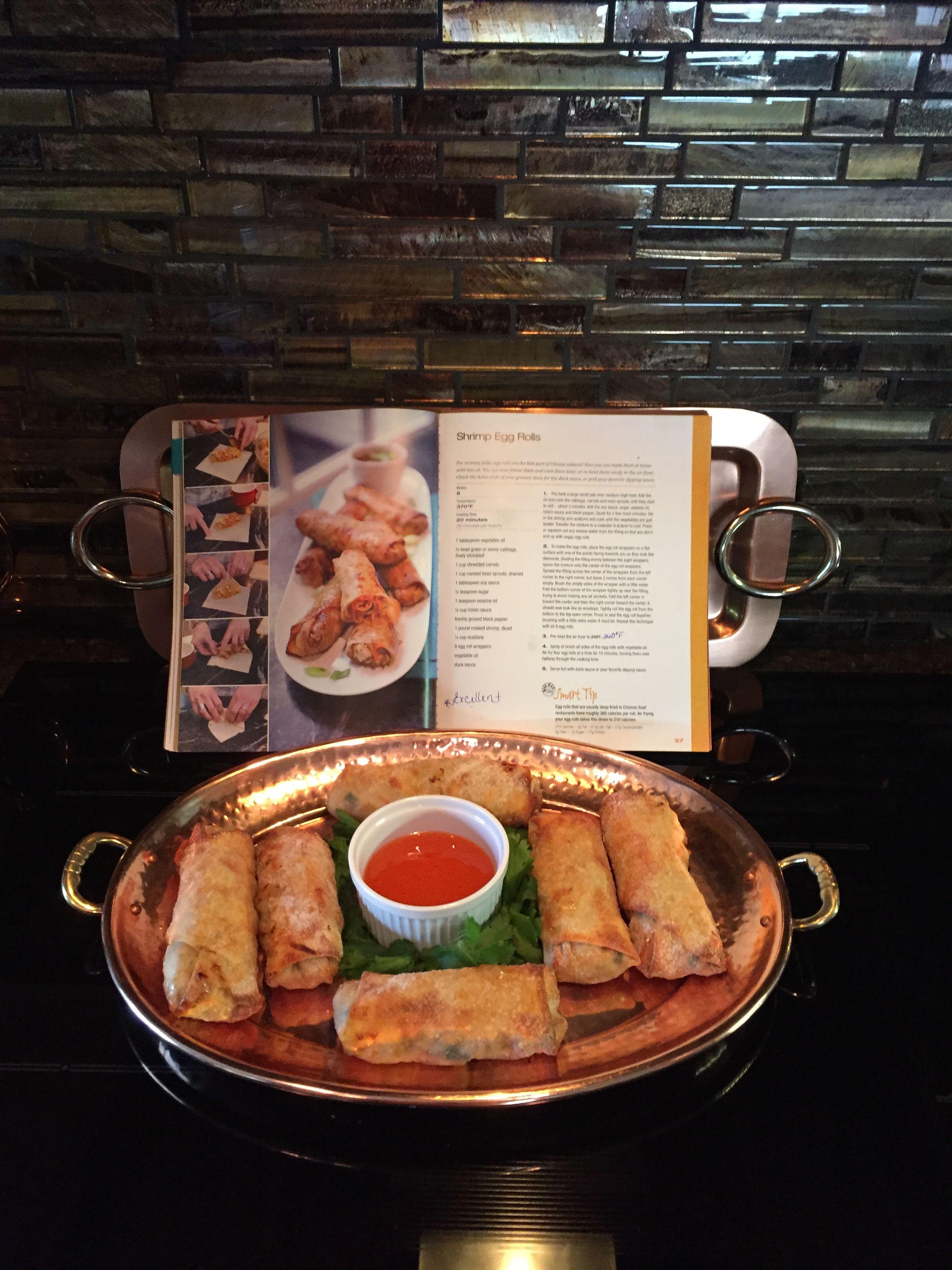 Air Fried Shrimp Egg Rolls Air fryer recipes, Cooks air