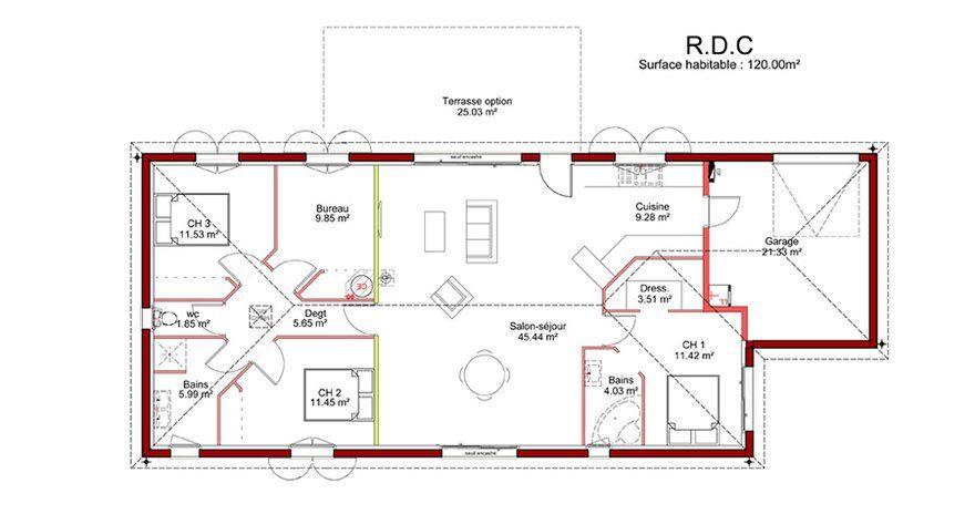 R sultat plan de trouv sur google rennee for 3 chambres dans 50m2