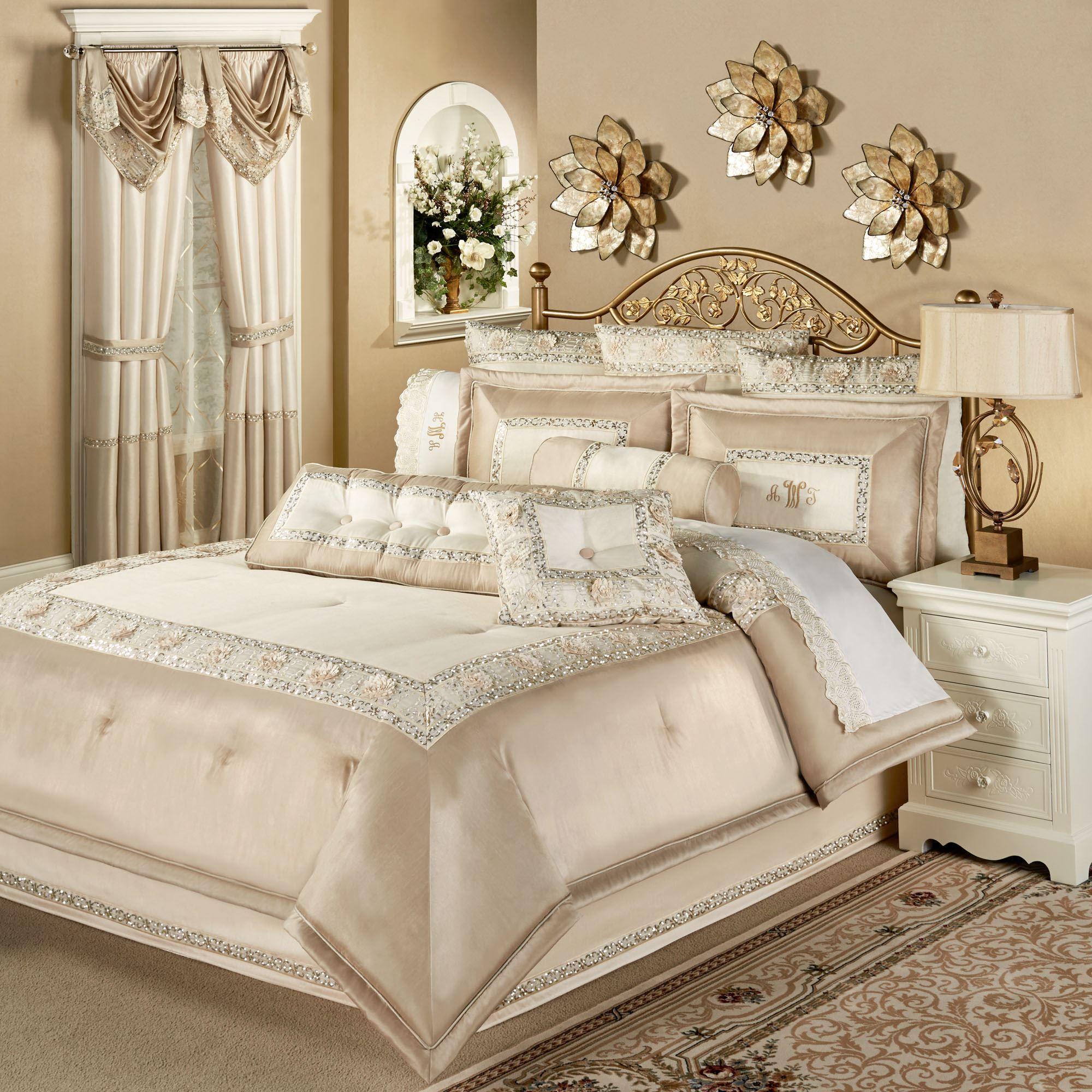 Elegante Faux Silk Luxury Comforter Bedding
