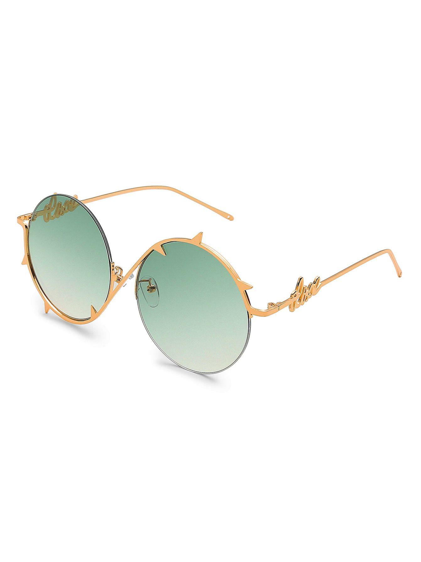 407849bd6d Shop Ombre Lens Asymmetrical Frame Round Sunglasses online. SheIn ...