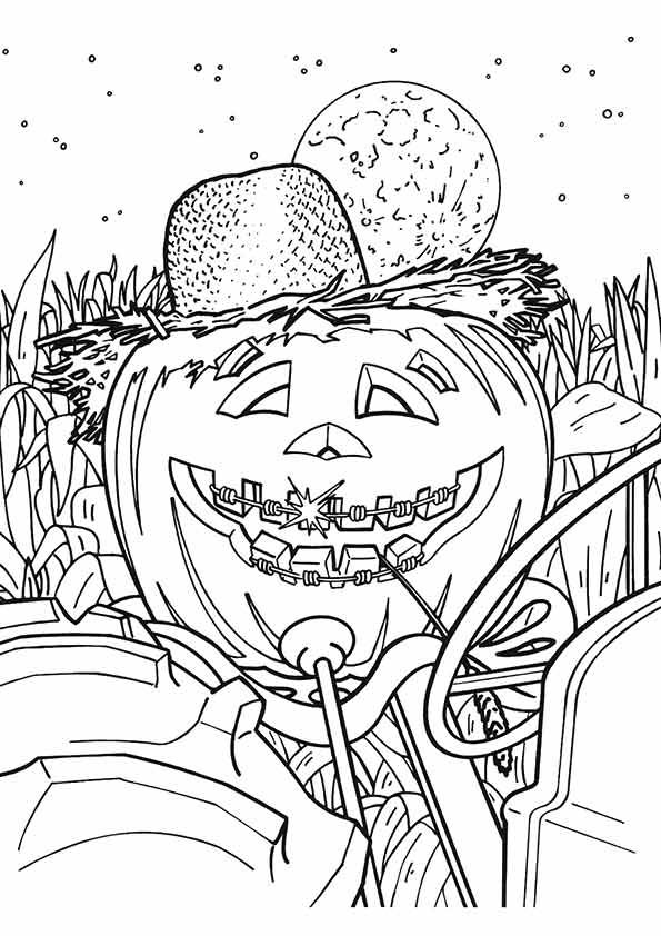 viewing-gallery-for-fall-pumpkin #halloweencoloringpages