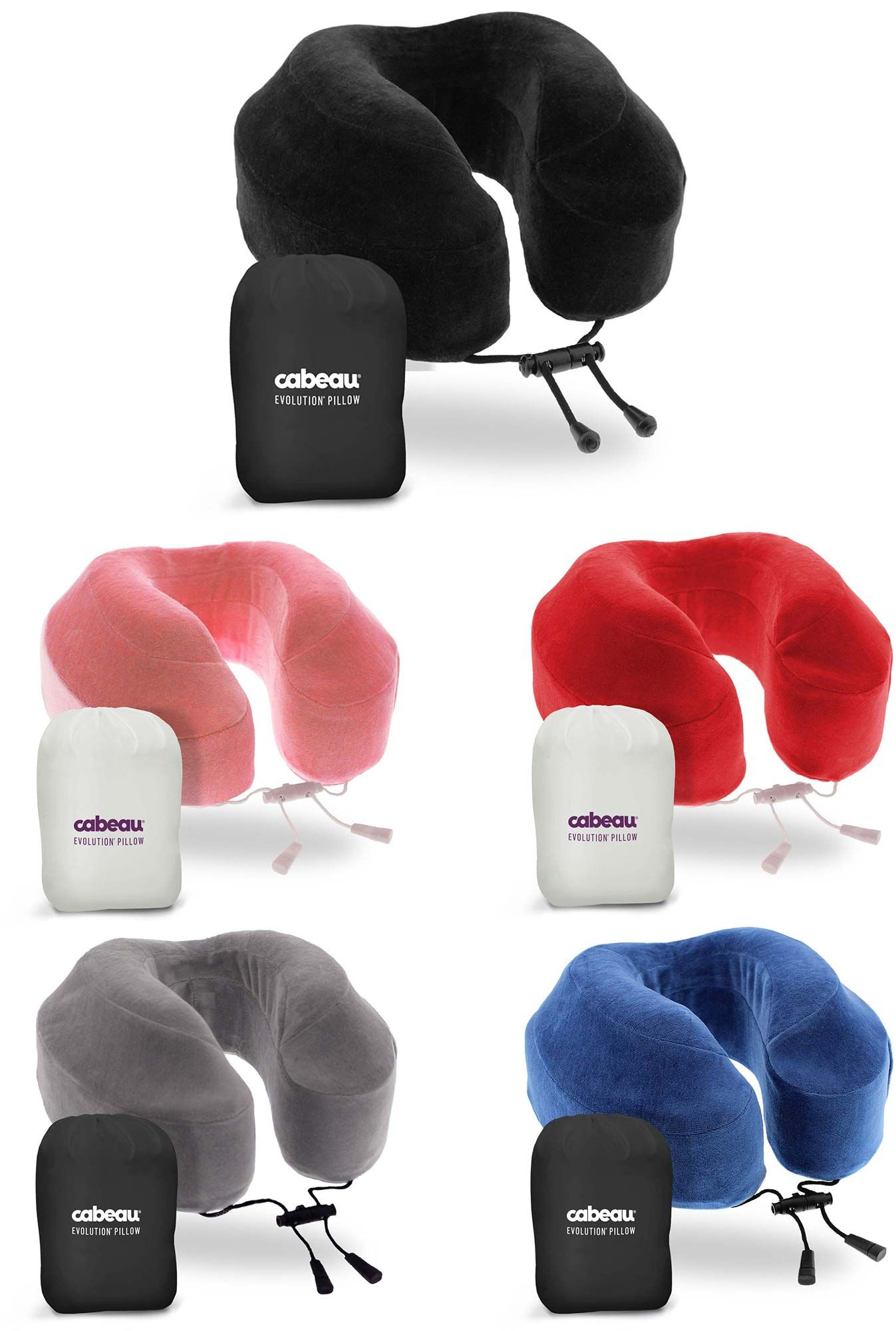 Cabeau Evolution Pillow.Cabeau Evolution S3 Memory Foam Travel Pillow With Seat Strap System