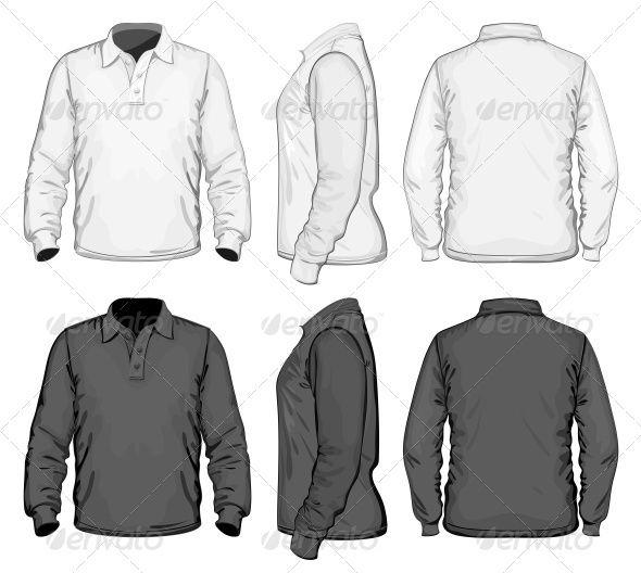 Men\'s Polo-shirt Design Template   Polo shirt design, Illustrations ...