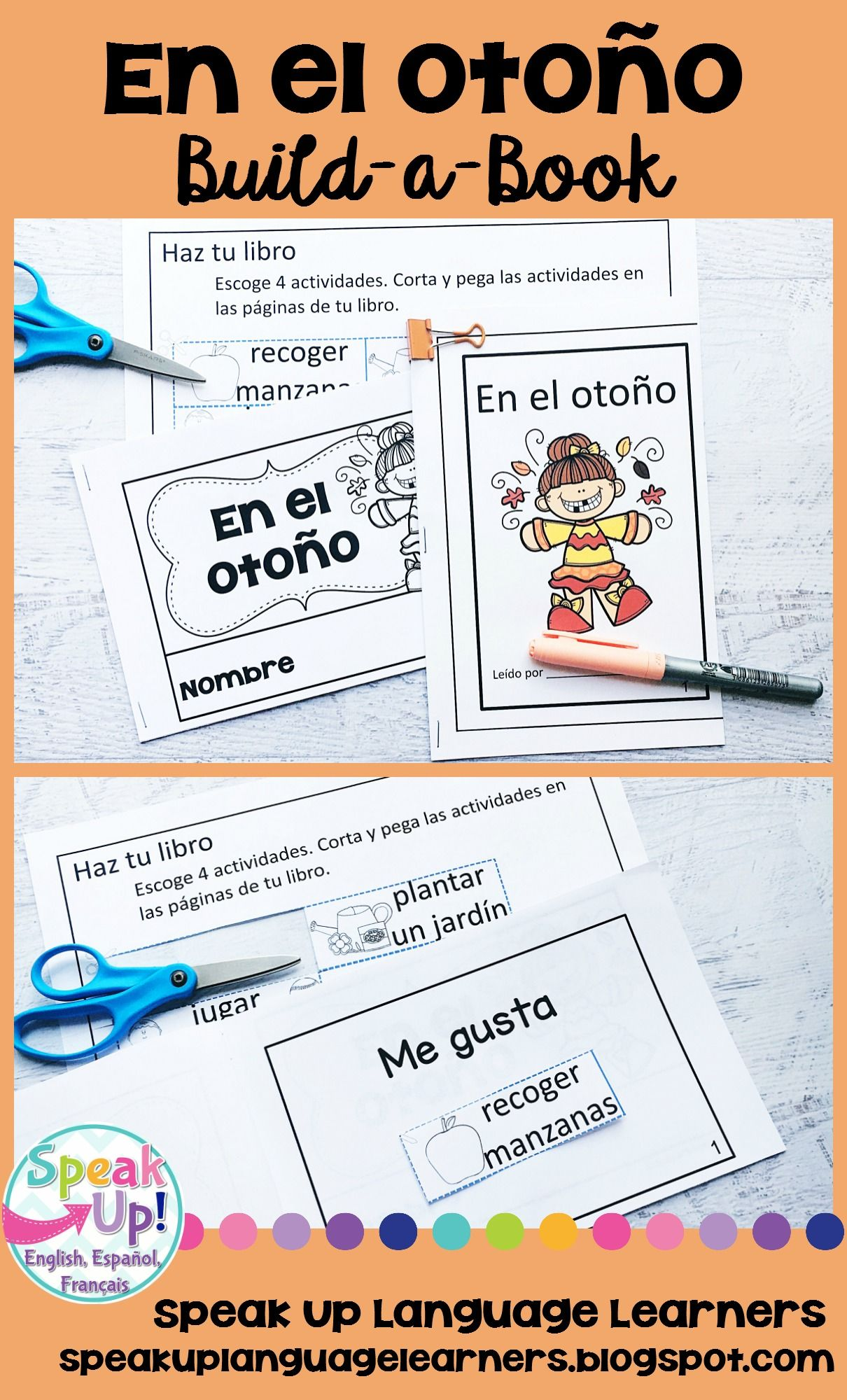 En El Otono Spanish Reader Amp Build A Book For Fall