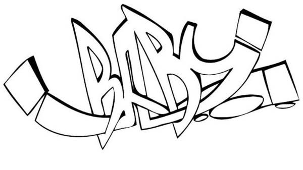 Permanent Link to : Baby Graffiti Creator Coloring Page ...