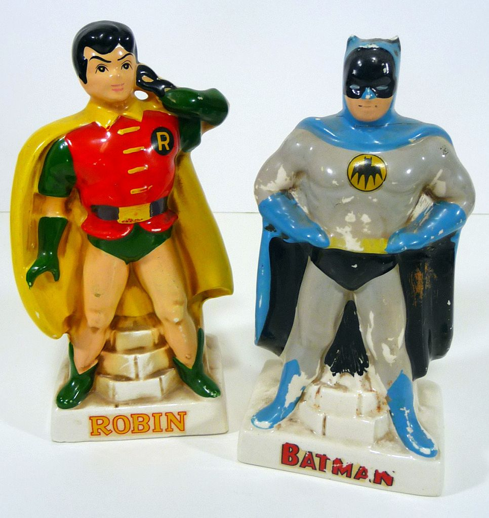 1961 Batman & Robin Coin Banks by Lego Japan