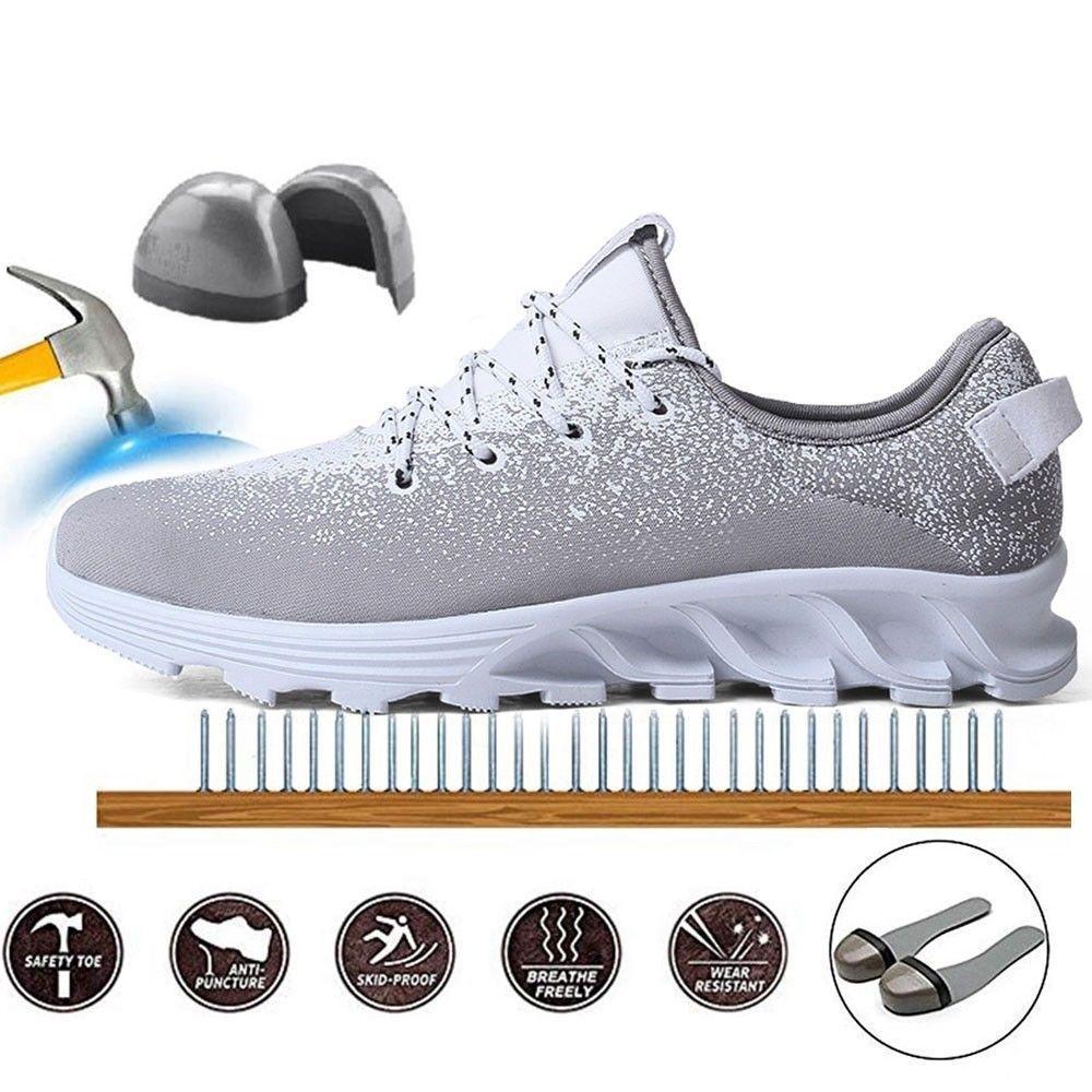 Women's Men's Safety Shoes Steel Toe Steel Sole Breathable
