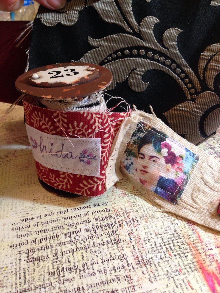 Frida spool art journal