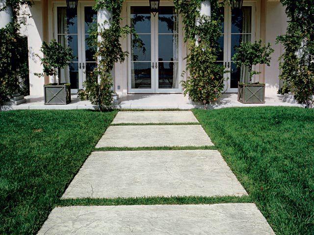 Baldosas De Exterior De Hormigón Stamped Concrete By Ideal Work Exterior Pavimento Hormigon