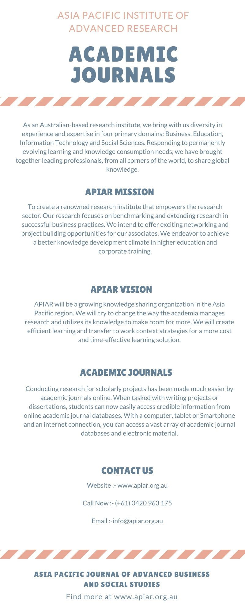 Academic Journal Apiar Org Au In 2020 Online Social Science Academics Four Dissertations