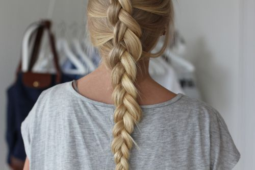 Inside out french braid.