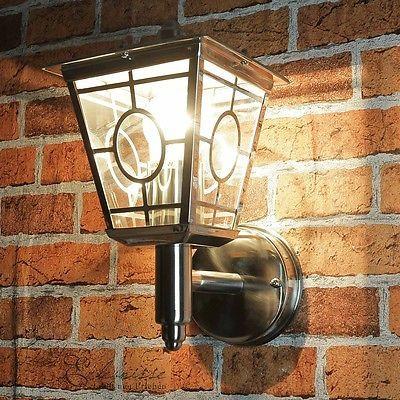 LED Edelstahl Hausleuchte Wandlampe Hof Beleuchtung Wandleuchte Big Light
