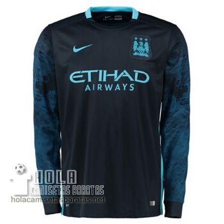 Camiseta Segunda Manga Larga Manchester City 2015-16 €19.9  4064ebcb993ee