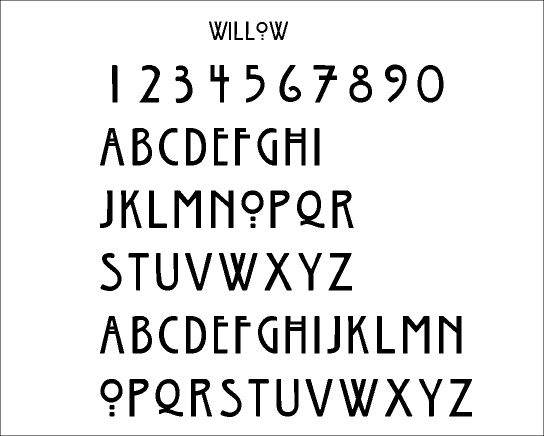 Font: willow | Words. | Pinterest | Fonts
