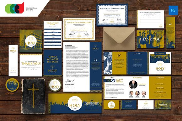 Holy - Church Branding Set by Cooledition on Creative Market