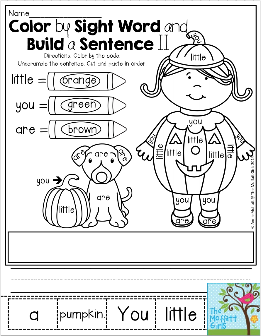 Worksheets Color By Sight Word Worksheets color by sight word and build a sentence this post has tons of engaging activities