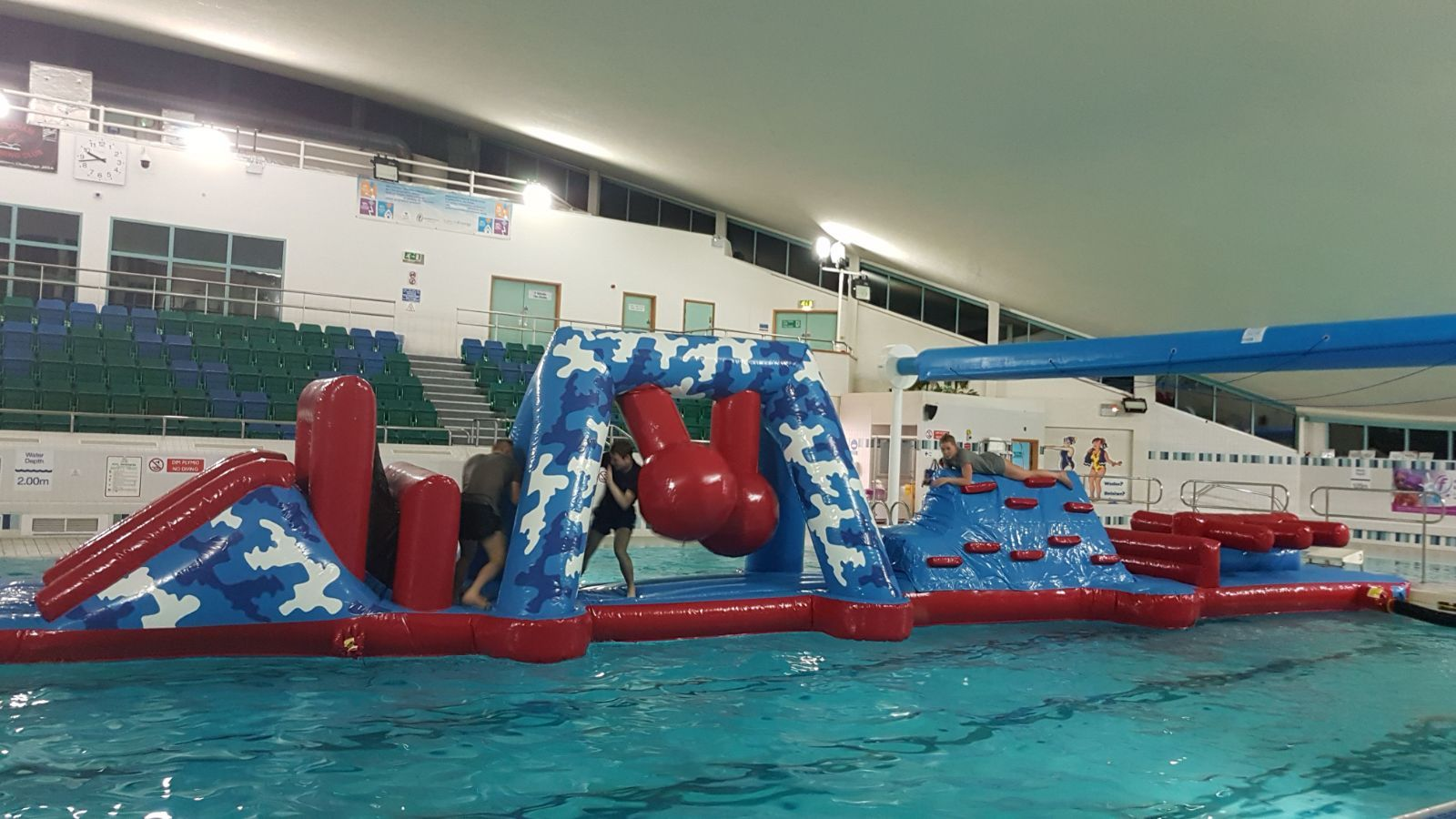 Inflatable Water Obstacle Course Race For Swimming Pool Obstacle