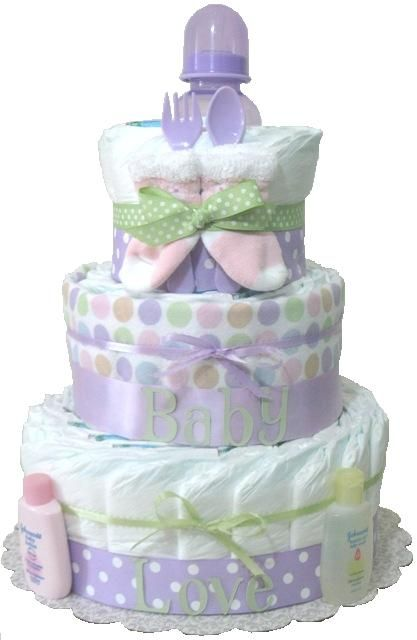 baby gift baby diaper cake lavender