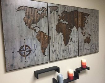 Items op etsy die op world map wooden wall art wooden sign brown items op etsy die op world map wooden wall art wooden sign brown walnut large lijken gumiabroncs Image collections