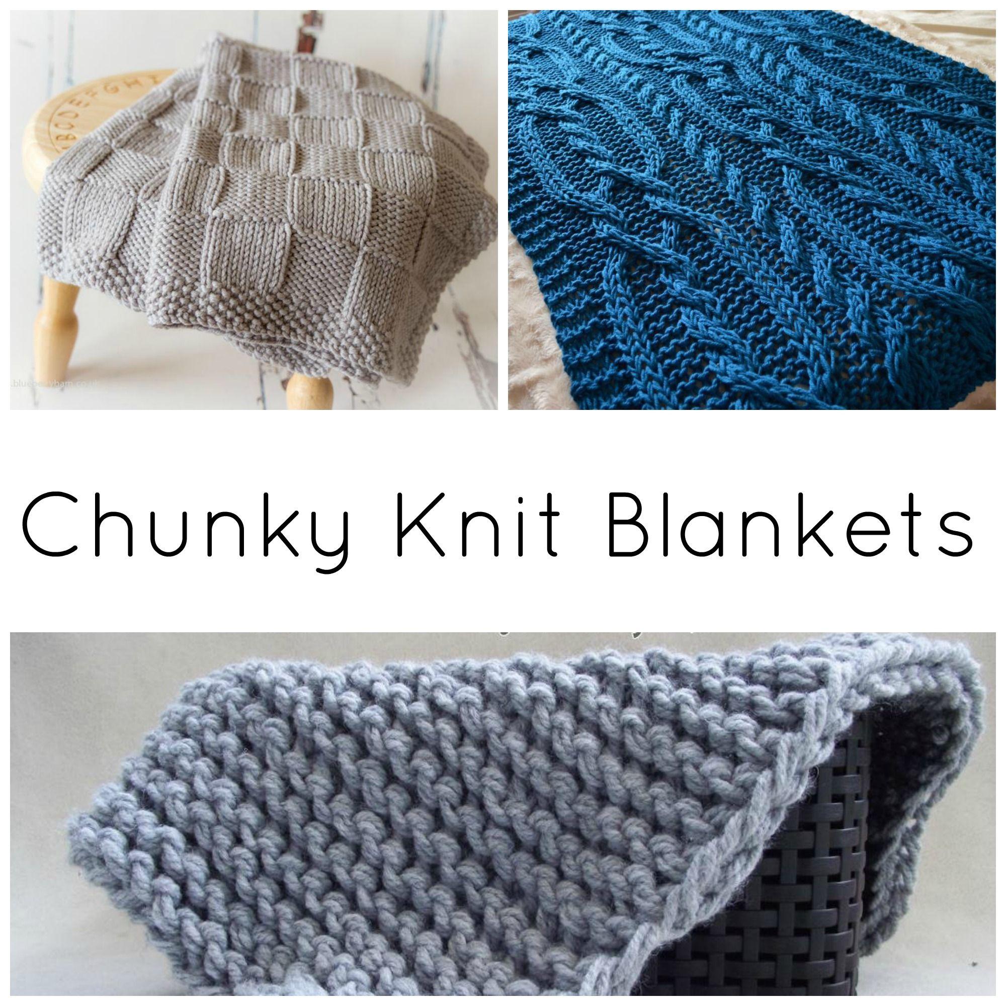 10 Quick & Cozy Chunky Knit Blanket Patterns on Craftsy | Manta ...