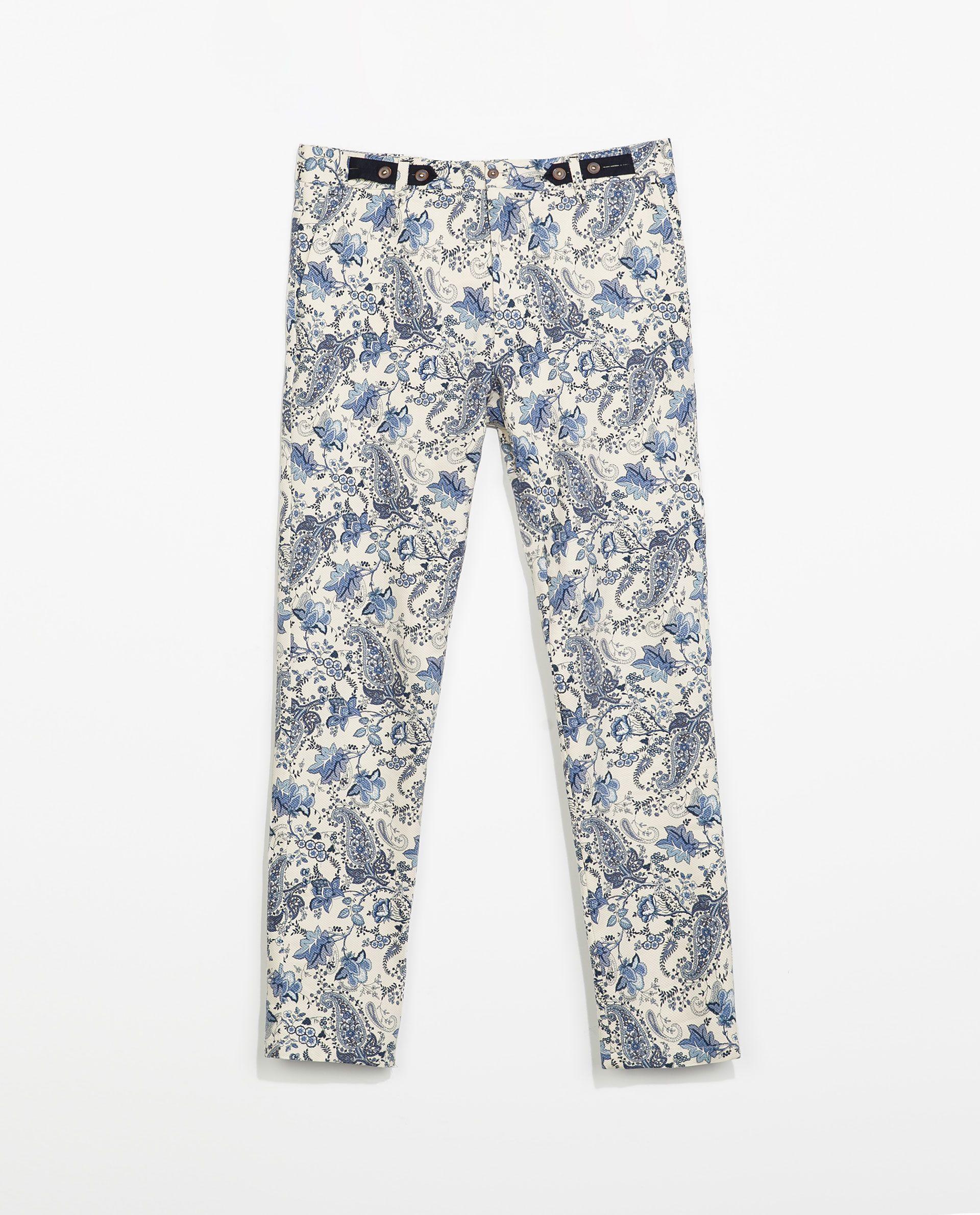 Zara floral trousers men clothes pinterest
